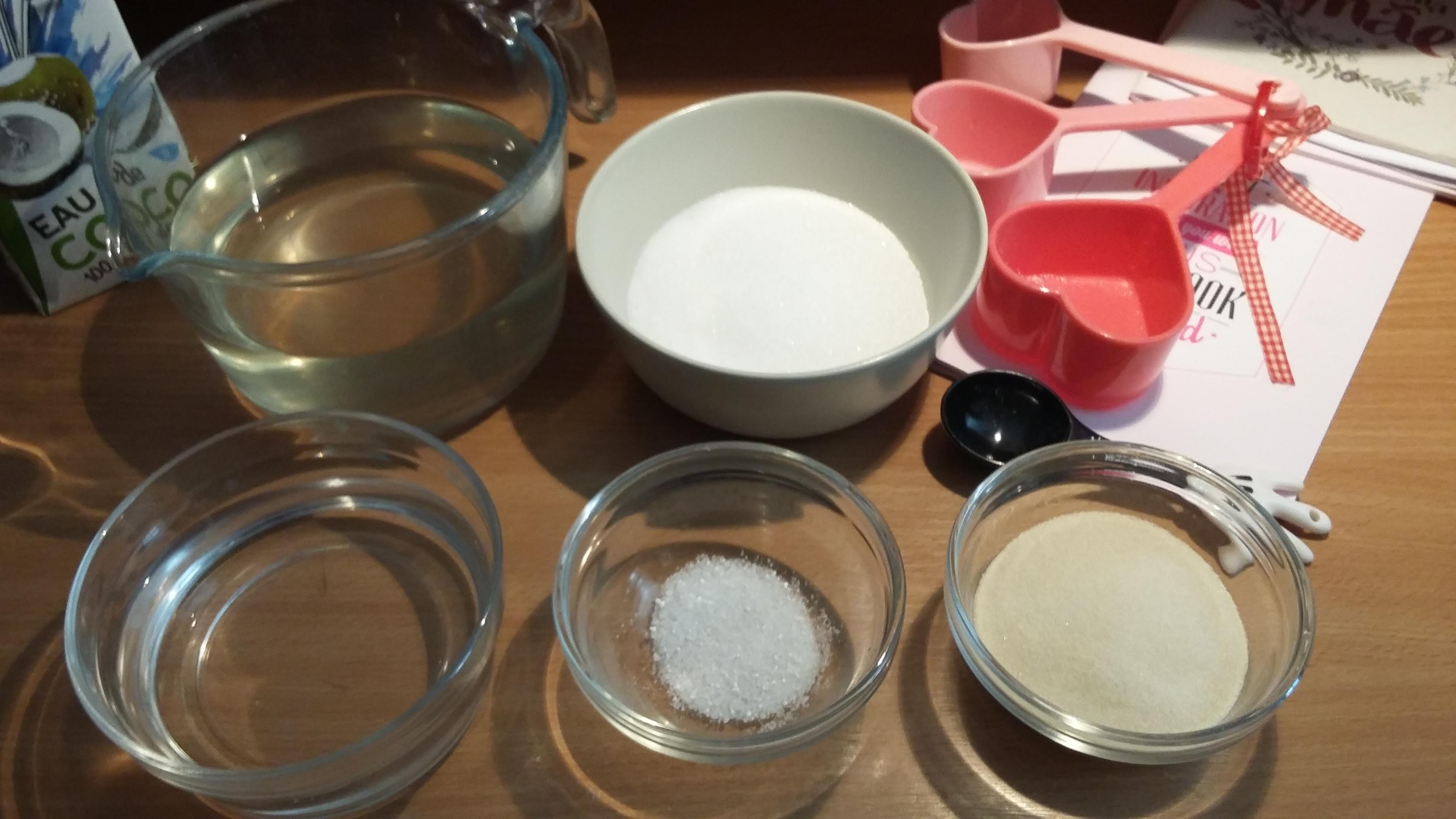 Ingredients Clear Gelatin
