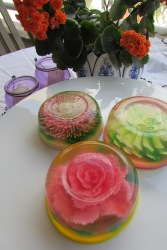 Jelly Art. Gelatin Flowers